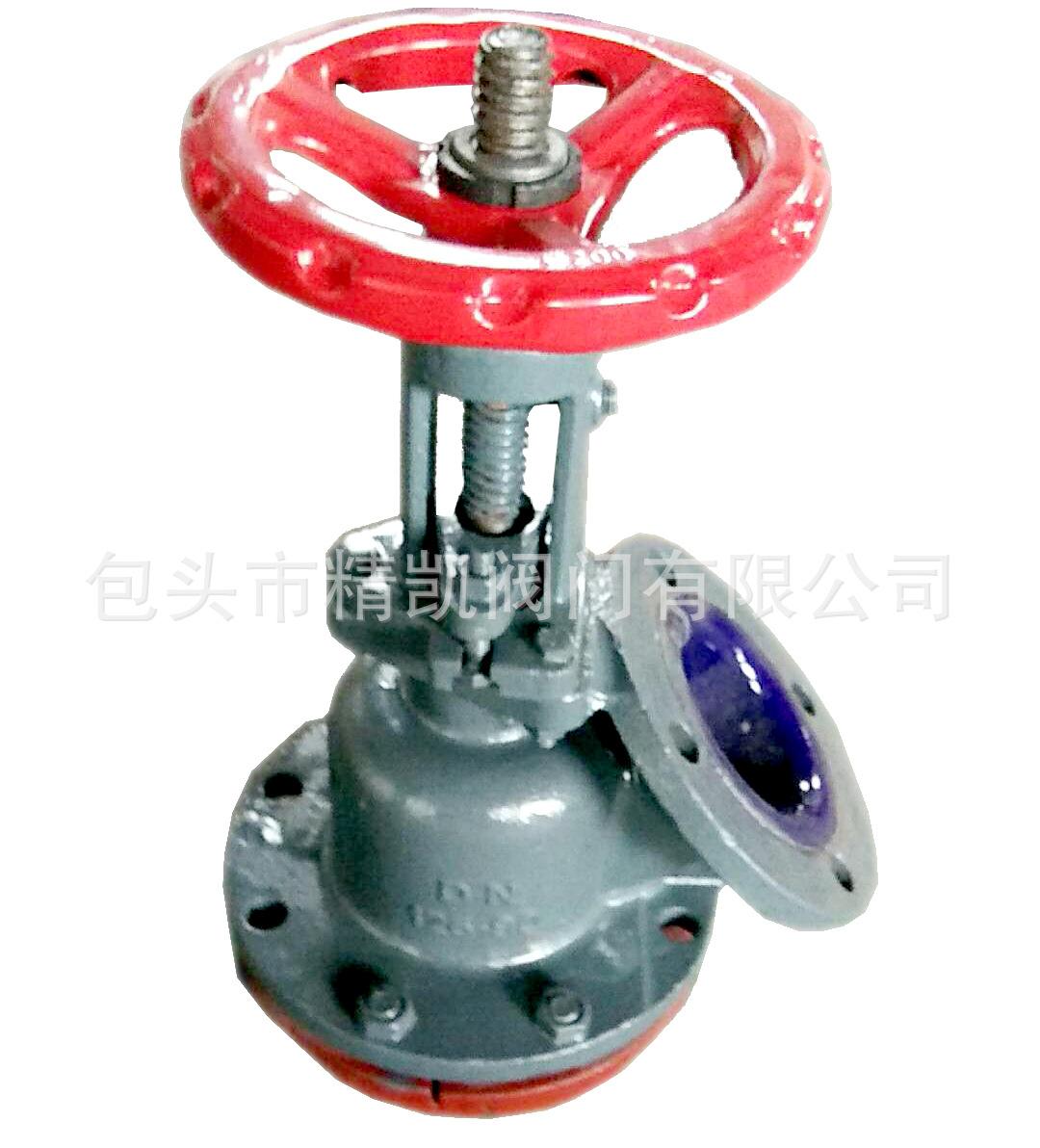 反应釜放料底阀  GJ45C-6Q手动上展下展式衬搪瓷放料阀