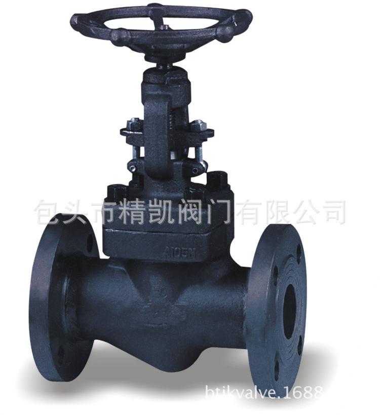 化工管道 J41H/Y-150/300LB 美标高压锻造截止阀 A105锻钢截止阀