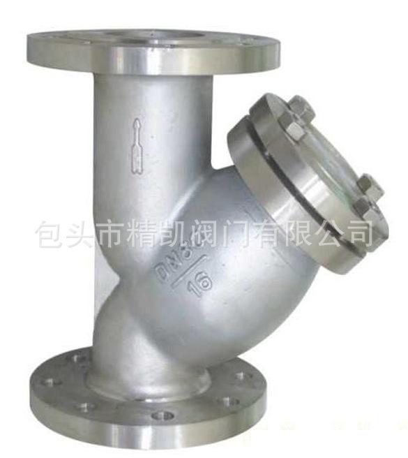 化工锅炉管道配套欧宝体育客户端官方下载 GL41W不锈钢法兰Y型过滤器 除污器 排污阀