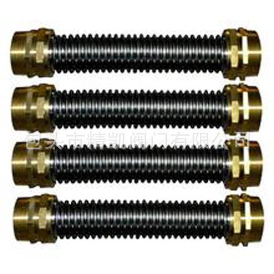 批发中央空调配套软管 不锈钢螺纹波纹金属软管 耐高温金属软管